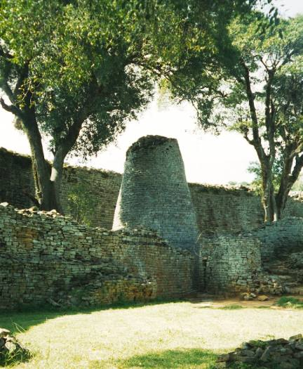 Great Zimbabwe, the capital of the Kingdom of Zimbabwe during the country's Late Iron Age. A UNESCO World Heritage Site.