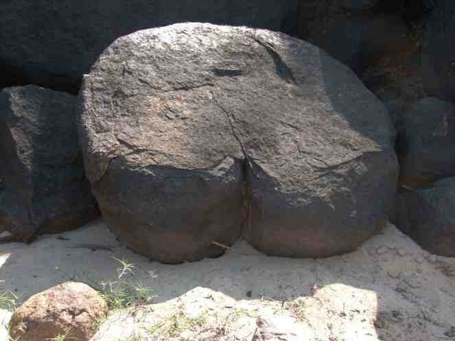 An interesting rock formation...