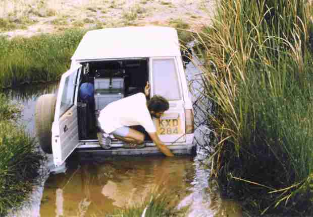 In the marsh: It is a pleasure to get stuck -and unstuck- with such good adversaries in that rally!