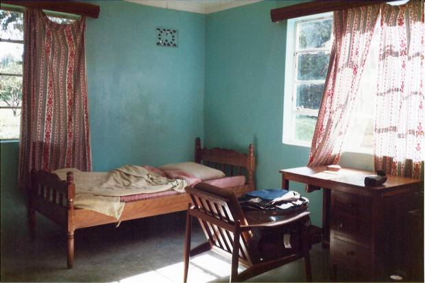 Our quiet room at the Pig & Whistle Hotel in Meru (built around 1930): A good night for a good rally's leg.