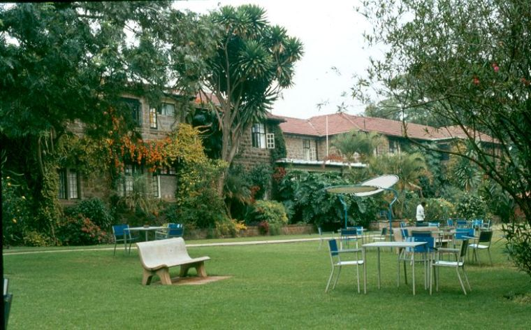 The gardens at the Fairview Hotel.