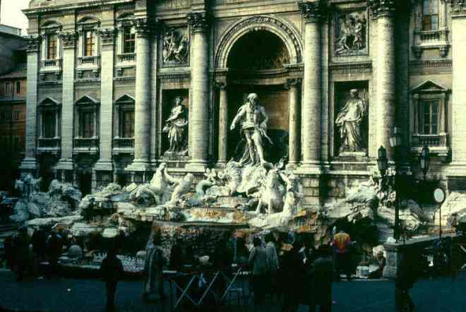 The Trevi Fountain in the 80s. I did throw a coin then and returned!