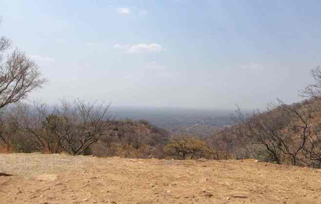 The view of the Zambezi valley from the main road.