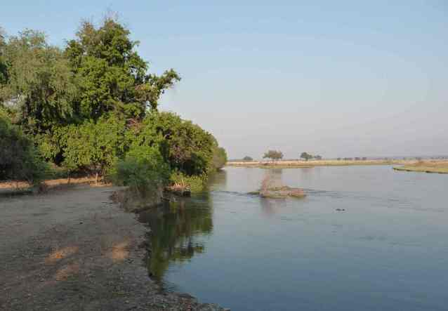 The Zambezi river from the lodge.