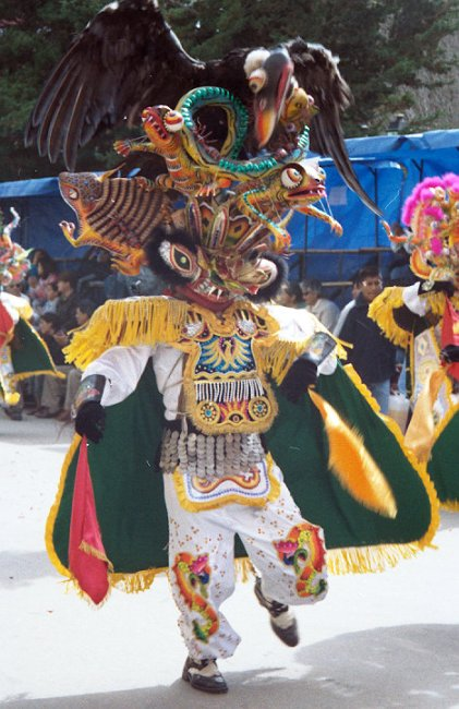 "A member of the ""Diablada"" (Devils) dancers."