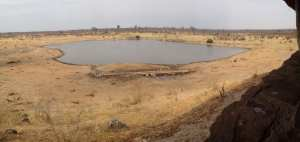 "A ""panorama"" view of Masuma Dam."