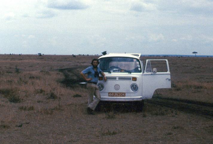 Returning from a muddy Maasai Mara Game Reserve in the VW Kombi.
