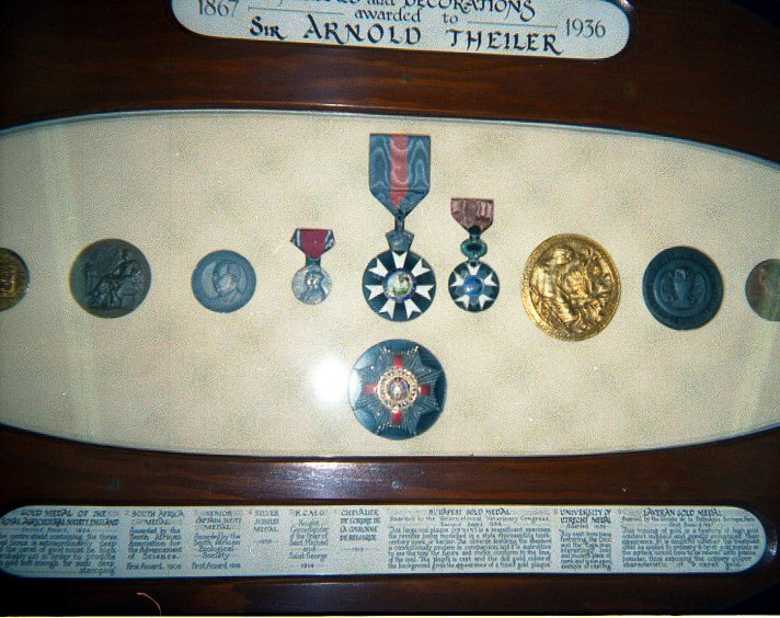 Theiler's condecorations for his outstanding work.