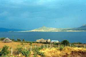 Rusinga island, across the channel.