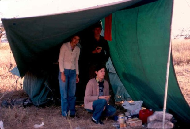 Our first camping experience at the Maasai Mara. From left to right: Ranjini, Kevin and my wife.