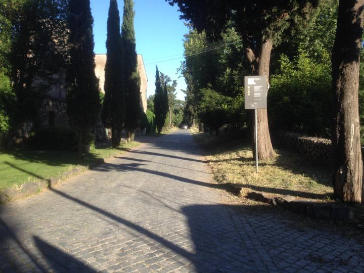 A view of the Appian Way.