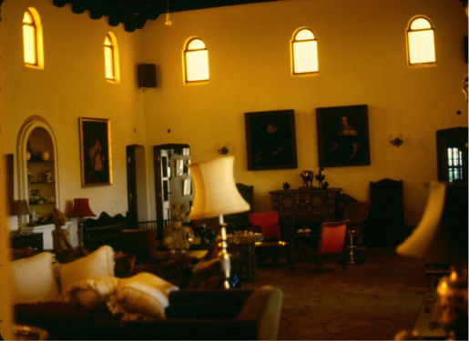 "The ""Dutch Masters"" paintings in the background, the picture was taken from the place Joe used to sit."