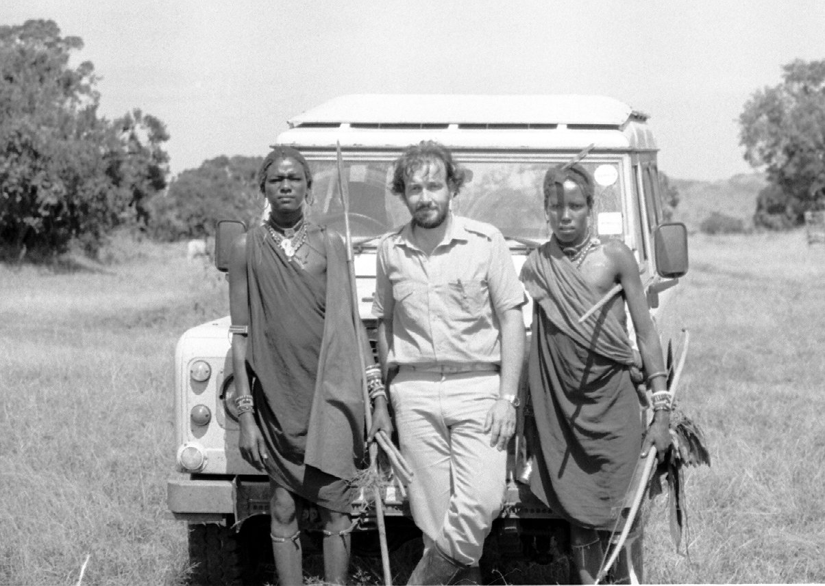 Maasai and JC with Land Rover