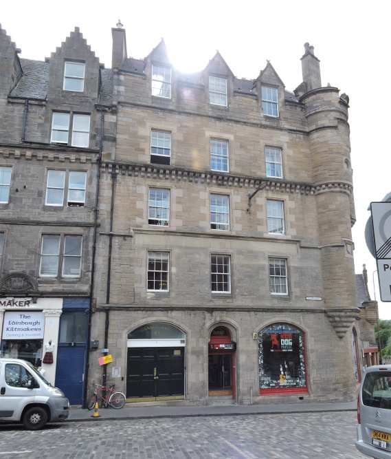 Our flat building at Grassmarket.