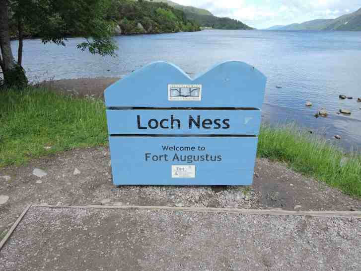 First view of Loch Ness. Not what I expected!