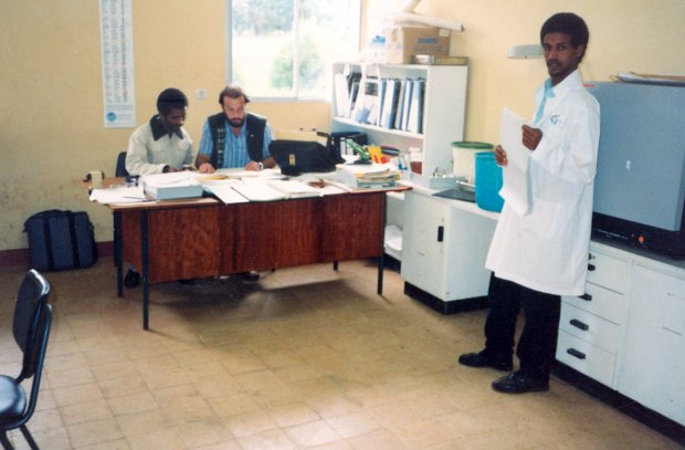 The laboratory at Bedele, Ethiopia.