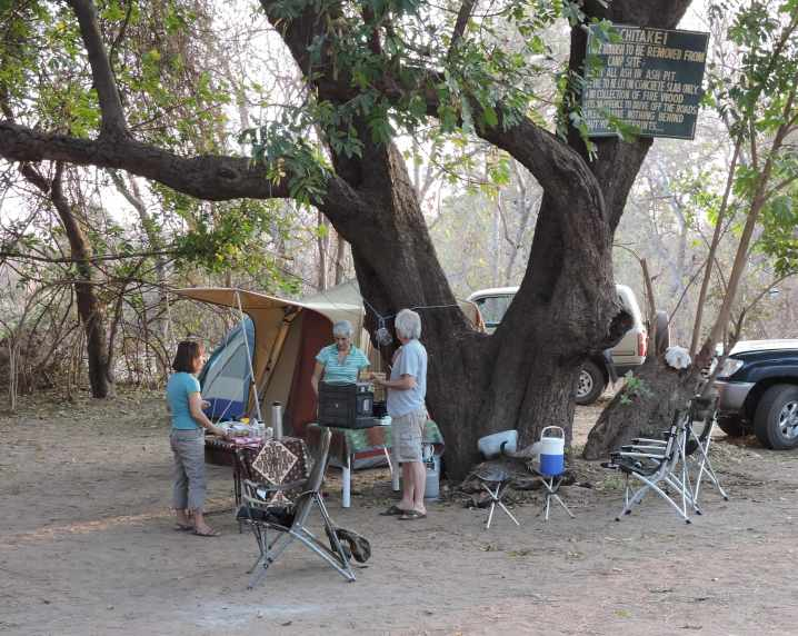 Our camp and occupants.