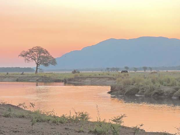 Sunset at Mana Pools.