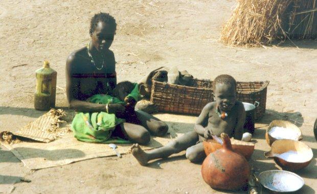 Villagers at Gambela, West Ethiopia.