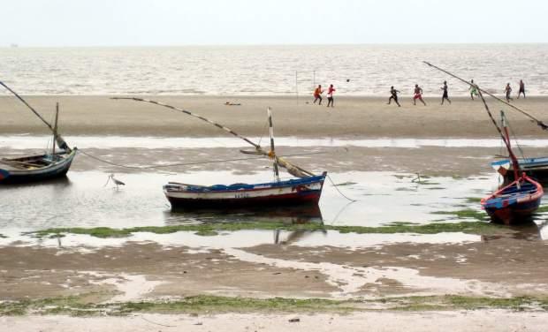 Maputo's beach in Mozambique.