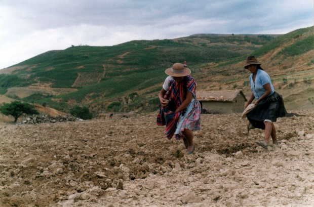 Sewing in Bolivia.