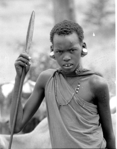 Maasai boy way to M Mara