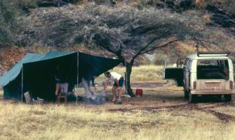 At Bogoria, our friends, more relaxed, shared our tent.