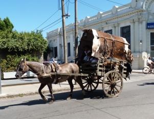 A precursor of today's carts at the 200 years' parade.