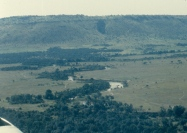 View of the Mara River before landing at Kichwa Tembo camp in the 80s.
