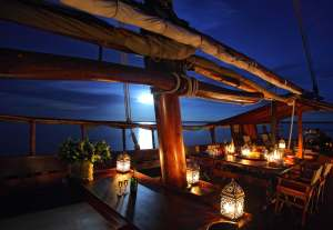 A tropical night on board Tusitiri. Picture credit by The Enasoit Collection.