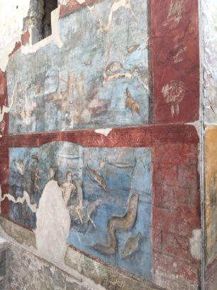 Frescoes at Pompeii.