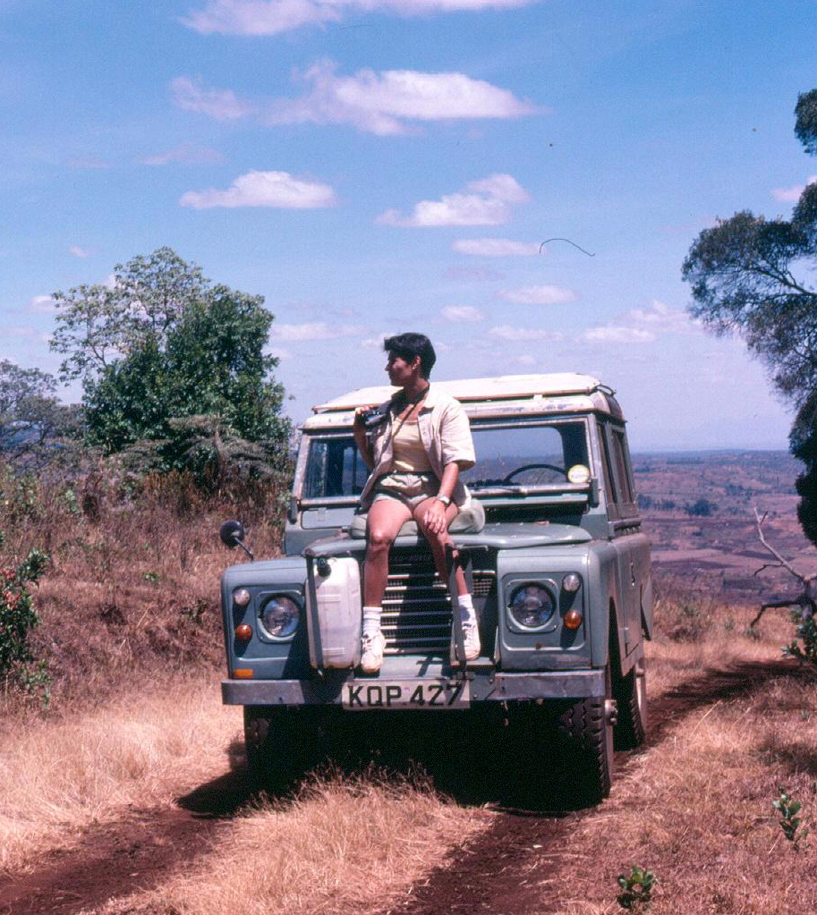 mabel on l rover...