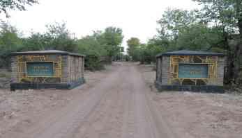 Camp entrance.