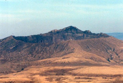 A very dry Longonot volcano.