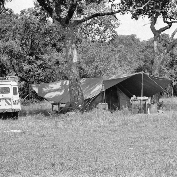 The camp during the day.