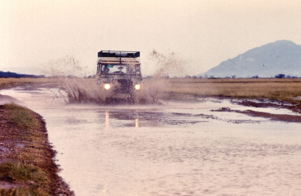 Land Rover Amboseli flooded lake copy