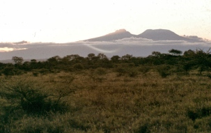 Mt. Kilimanjaro from Olorgesailie.