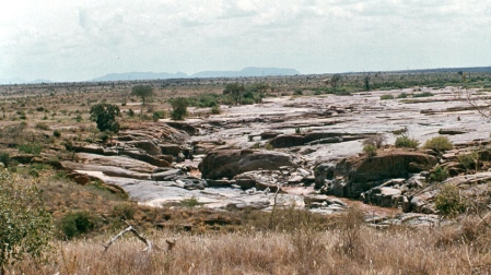 General view of the Lugard falls.