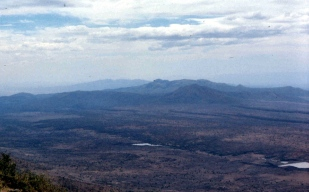 The dramatic view of the rift valley from the Ngong hills, on the way to Olorgesailie and lake Magadi.