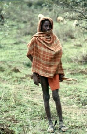 Maasai herdboy at Suswa.