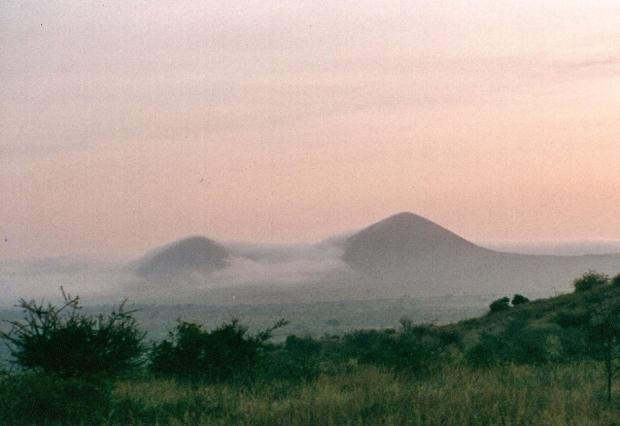 Mountains with clouds Tsavo W near Kilaguni copy