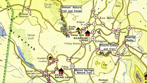 Tsavo West map