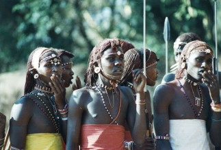 Samburu singing at Meyer's Ranch.