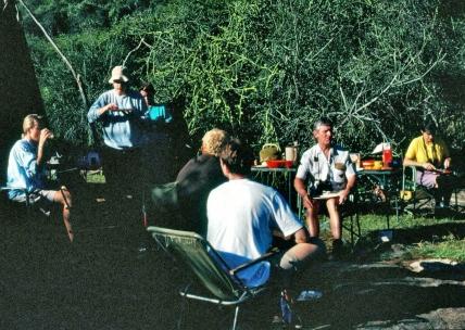 At camp.