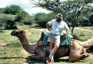 Bushsnob pretending to be an old hand with camels.